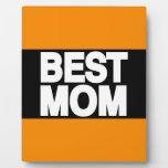 Best Mom Lg Orange Photo Plaque