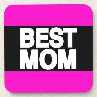 Best Mom Lg Pink Drink Coaster