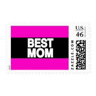 Best Mom Lg Pink Postage Stamps
