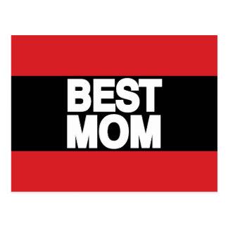 Best Mom Lg Red Postcard