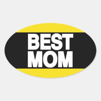 Best Mom Lg Yellow Oval Sticker