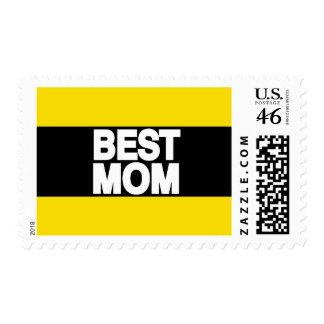 Best Mom Lg Yellow Postage Stamp