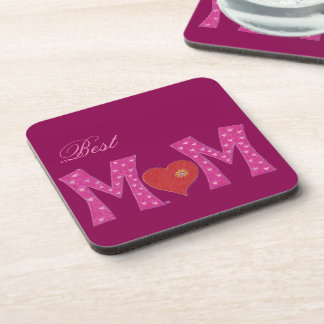 Best mom , Mother's Day purple square coasters