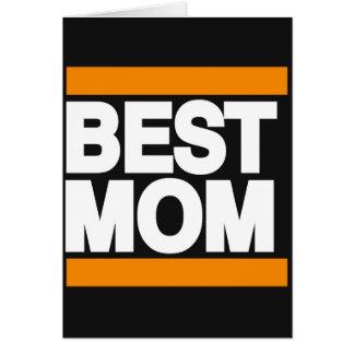 Best Mom Orange Card