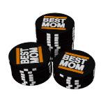 Best Mom Orange Poker Chips Set