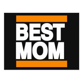 Best Mom Orange Postcard