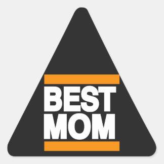 Best Mom Orange Triangle Sticker