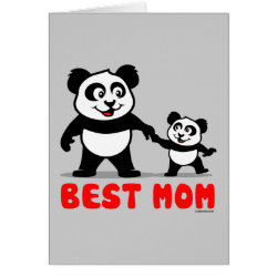 Greeting Card with Best Mom design