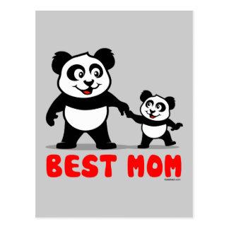 Best Mom Panda Postcard