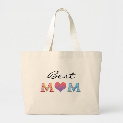 Best mom, personalized tote bag
