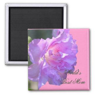 Best Mom Pink Azalea Flower Photo Magnet