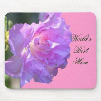 Best Mom Pink Azalea Flower Photo Mousepad