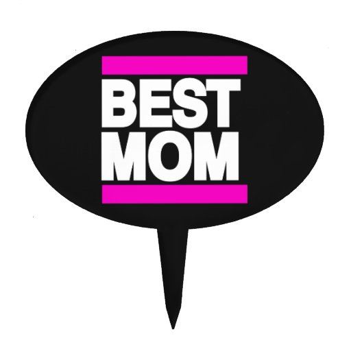 Best Mom Pink Cake Picks