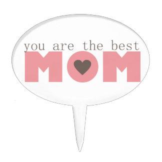 Best Mom (Pink) Cake Topper