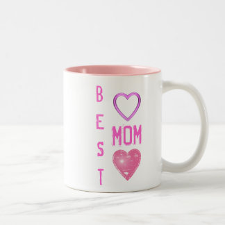 Best Mom Pink Heart Mug