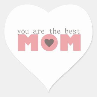 Best Mom (Pink) Heart Sticker