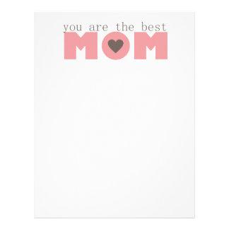 Best Mom (Pink) Letterhead