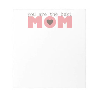 Best Mom (Pink) Notepad