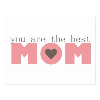 Best Mom (Pink) Postcard