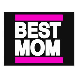 Best Mom Pink Postcard