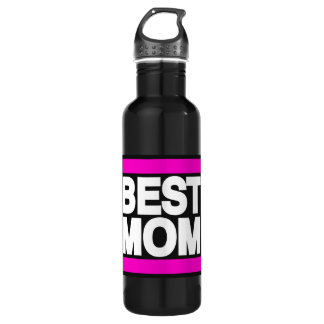 Best Mom Pink Stainless Steel Water Bottle