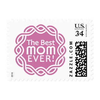 BEST MOM postage stamps