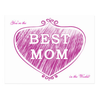 Best Mom Postcard