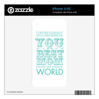 Best mom prize iPhone 4S skins