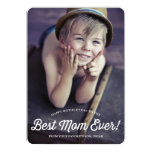 Best Mom | Retro Calligraphy Mother's Day Card