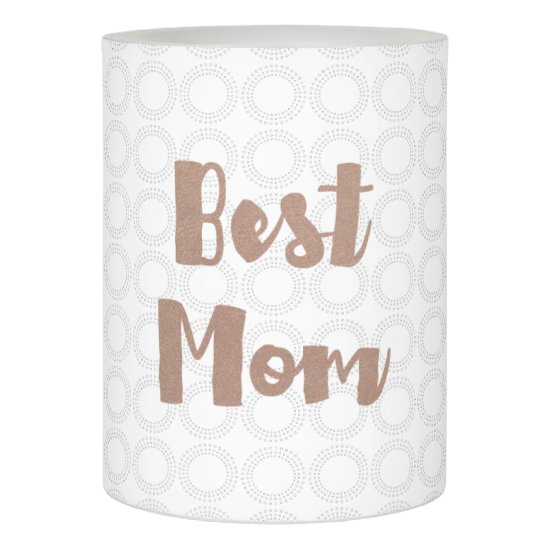 Best Mom | Rose Gold Faux Foil on Circles Pattern Flameless Candle