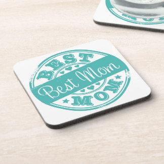 Best mom - rubber stamp effect- coaster