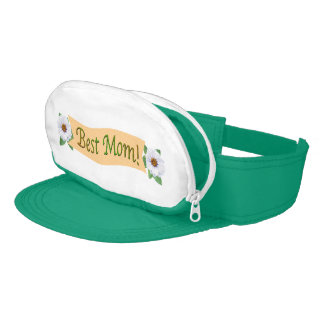 Best Mom White Zinnia Garden Mother's Day Visor