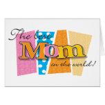 Best Mom World Greeting Card