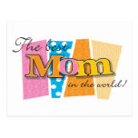 Best Mom World Postcard