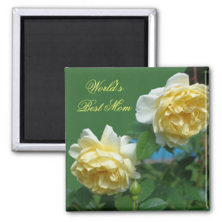 Best Mom Yellow Roses Flower Photo Magnet