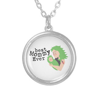 Best Mommy Ever Round Pendant Necklace