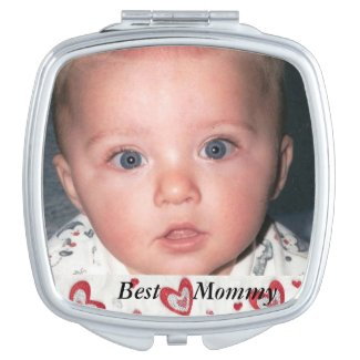 Best Mommy Photo Compact Vanity Mirror