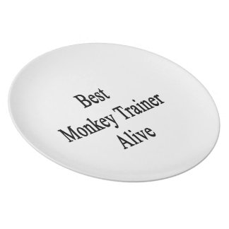 Best Monkey Trainer Alive Plate