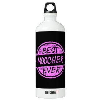 Best Moocher Ever Pink Aluminum Water Bottle