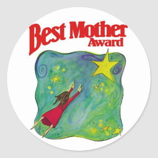 Best Mother Award Gifts Classic Round Sticker