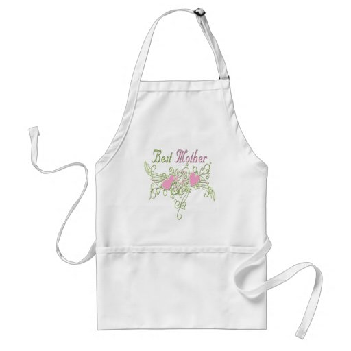 Best Mother Swirling Hearts Adult Apron