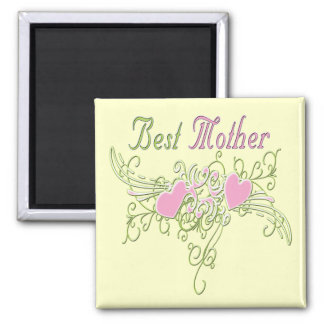 Best Mother Swirling Hearts Fridge Magnets