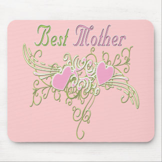Best Mother Swirling Hearts Mouse Pad