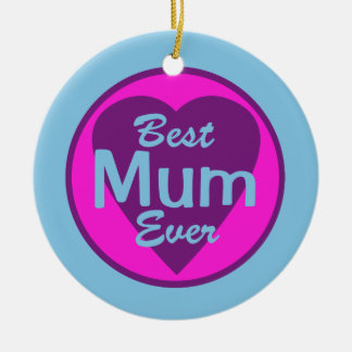 Best Mum Ever Personalized Ornament