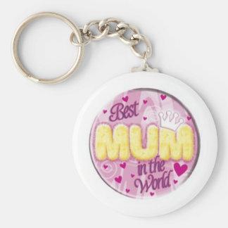 best mum in the world keyring keychain