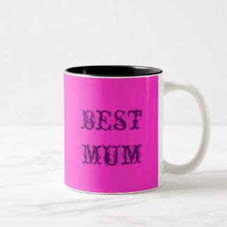 best mum Two-Tone coffee mug