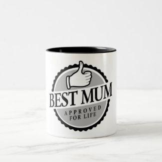 Best mum vintage Two-Tone coffee mug