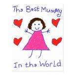 Best Mummy In The World Postcard