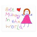 Best Mummy in World Postcard