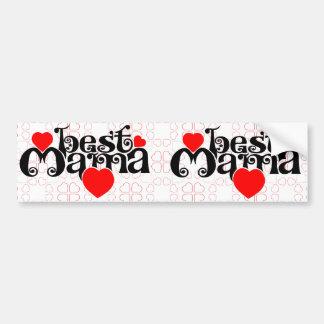 Best mummy Pattern & Big Bumper Sticker